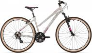 ROCK MACHINE  CROSSRIDE 100 Lady Gloss Light Grey/Dark Grey/New Pink | JÍZDNÍ KOLA    -   Crossová kola